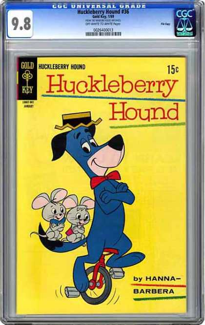 CGC Graded Comics - Huckleberry Hound #36 (CGC) - Huckleberry Hound - Gold Key - Hanna-barbera - Childrens - Cartoon
