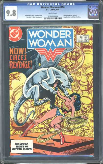CGC Graded Comics - Wonder Woman #314 (CGC) - Wonder Woman - Now - Circes Revenge - Dc - Lasso