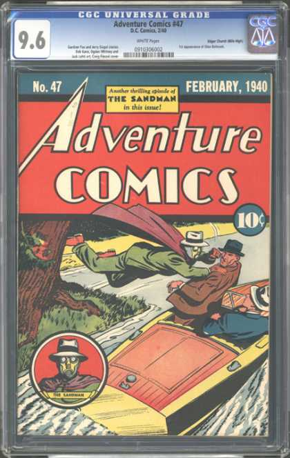 CGC Graded Comics - Adventure Comics #47 (CGC) - Adventure Comics - February 1940 - The Sandman - Boat - Red Cape