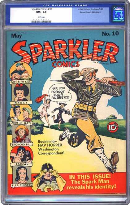 CGC Graded Comics - Sparkler Comics #10 (CGC) - Sparkler - 10 - Nancy - Broncho Bill - Tarzan