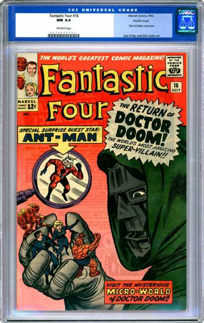 CGC Graded Comics - Fantastic Four #16 (CGC) - Doctor Doom - Fantastic Four - Marvel - Ant-man - July