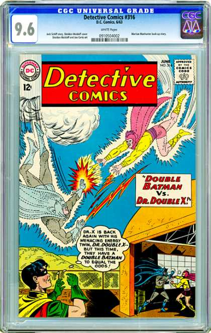 CGC Graded Comics - Detective Comics #316 (CGC) - Detective Comics - Batman - Robin - Warehouse - Dr Double X
