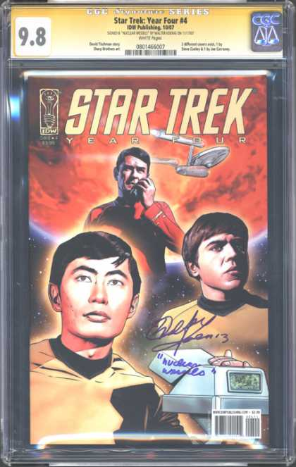 CGC Graded Comics - Star Trek: Year Four #4 (CGC) - Star Trek - Captain Kirk - Spock - Enterprise - Mr Sulu