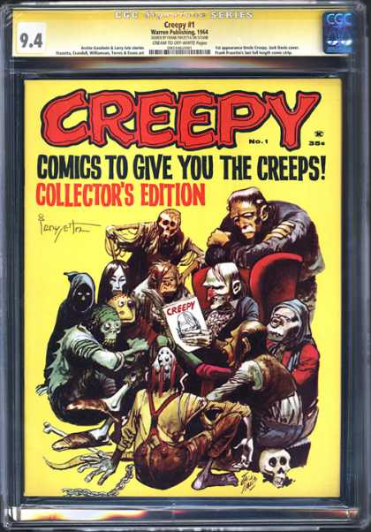 CGC Graded Comics - Creepy #1 (CGC) - Creepy - Skeleton - Frankenstein - Death - Magazine
