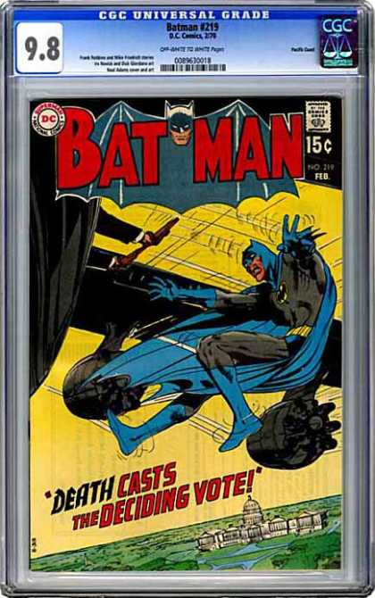 CGC Graded Comics - Batman #219 (CGC) - Washington Dc - Capitol Building - Lawns - Plane - Wing