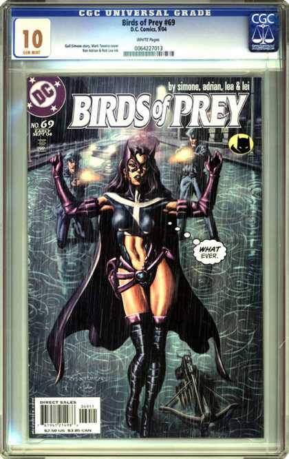 CGC Graded Comics - Birds of Prey #69 (CGC) - Birds Of Prey - Woman - Female Superhero - Hands Up - Guns