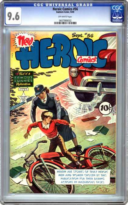 CGC Graded Comics - Heroic Comics #56 (CGC) - Bicycle - Boy - Famous - New - Action