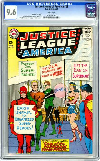 CGC Graded Comics - Justice League of America #28 (CGC)