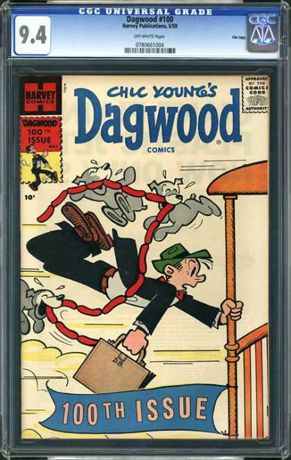 CGC Graded Comics - Dagwood #100 (CGC) - Chic Young - Dagwood - Hotdogs - Dogs - 100th Issue