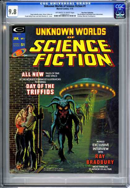 CGC Graded Comics - Unknown Worlds of Science Fiction #1 (CGC) - 100 - Tales Of Time In Space - Day Of The Triffids - Ray Bradbury - Exclusive Interview