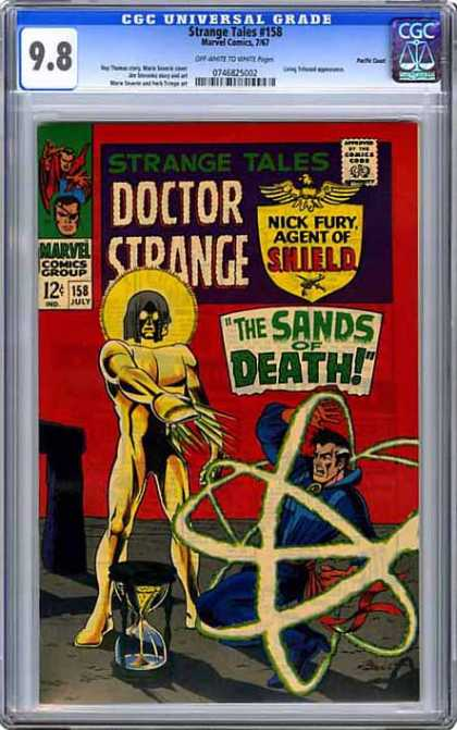 CGC Graded Comics - Strange Tales #158 (CGC) - Cgc Universal Grade - Strange Tales - Marvel Comics - Doctor Strange - The Sands Of Death