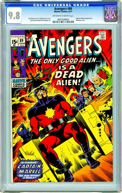 CGC Graded Comics - Avengers #89 (CGC) - Approved By The Comics Code - Marvel Comics Group - Superhero - Captain Marvel - The Only Good Alien Is A Dead Alien