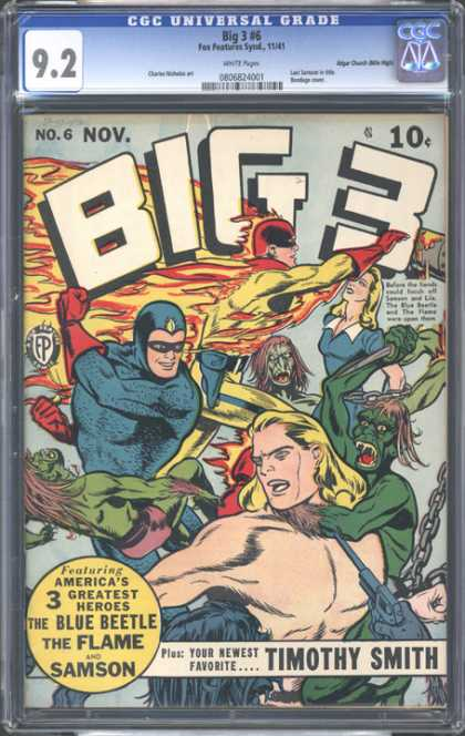 CGC Graded Comics - Big 3 #6 (CGC)