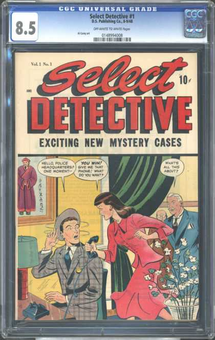 CGC Graded Comics - Select Detective #1 (CGC)