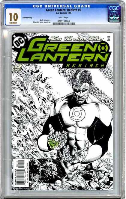 CGC Graded Comics - Green Lantern: Rebirth #2 (CGC) - Superhero - Strong Man - Armor - Thingd - Sand