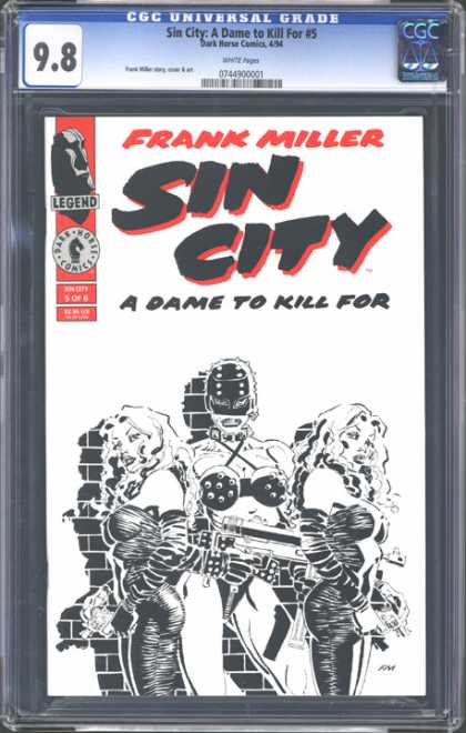 CGC Graded Comics - Sin City: A Dame to Kill For #5 (CGC) - Frank Miller - A Dame To Kill For - Leather Mask - Leather Bikini - Gun