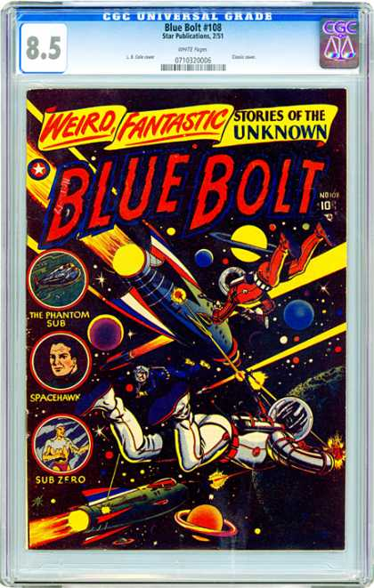 CGC Graded Comics - Blue Bolt #108 (CGC) - Blue Bolt - Space - Phantom Sub - Spacehawk - Sub Zero