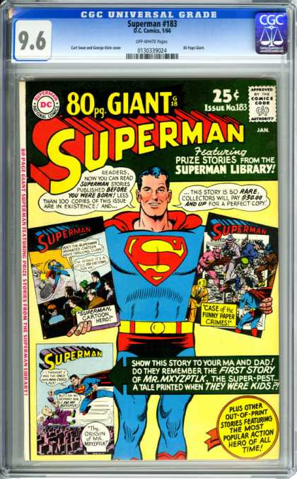 CGC Graded Comics - Superman #183 (CGC) - Man Of Steel - Superhero - Rare - Out Of Print Stories - Funny Paper Crimes