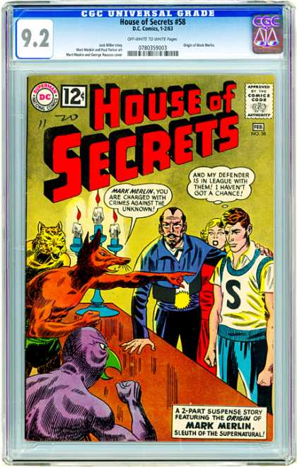 CGC Graded Comics - House of Secrets #58 (CGC)
