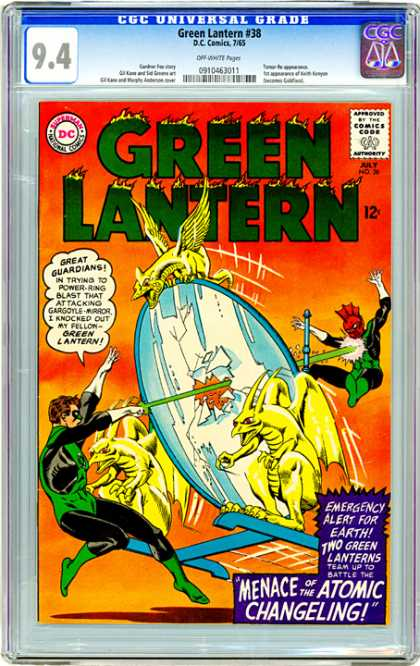 CGC Graded Comics - Green Lantern #38 (CGC) - Green Lantern - Comics Code - Menace Of The Atomic Changeling - Mirror - Dragons
