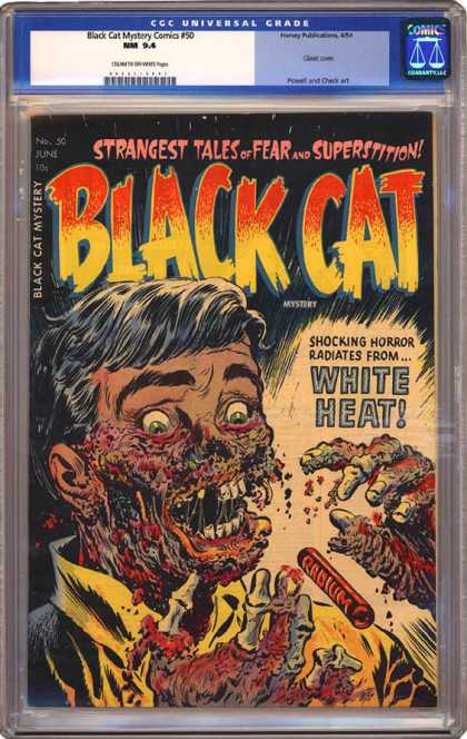 CGC Graded Comics - Black Cat Mystery Comics #50 (CGC)