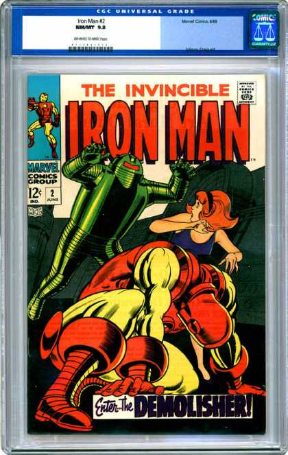 CGC Graded Comics - Iron Man #2 (CGC) - Invincible - Iron Man - Marvel - Demolisher - Universal Grade