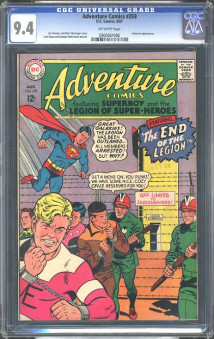 CGC Graded Comics - Adventure Comics #359 (CGC) - Adventure Comics - Superman - Soldiers - Costume - Superhero