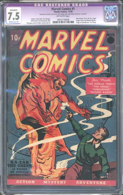 CGC Graded Comics - Marvel Comics #1 (CGC) - Marvel Comics - Balance - Submarine - Human Torch - Angel