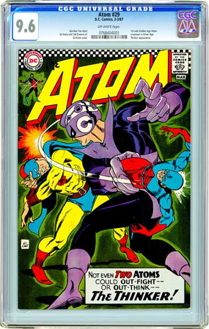 CGC Graded Comics - Atom #29 (CGC) - Atom - Universal - Thinker - Two - Dc