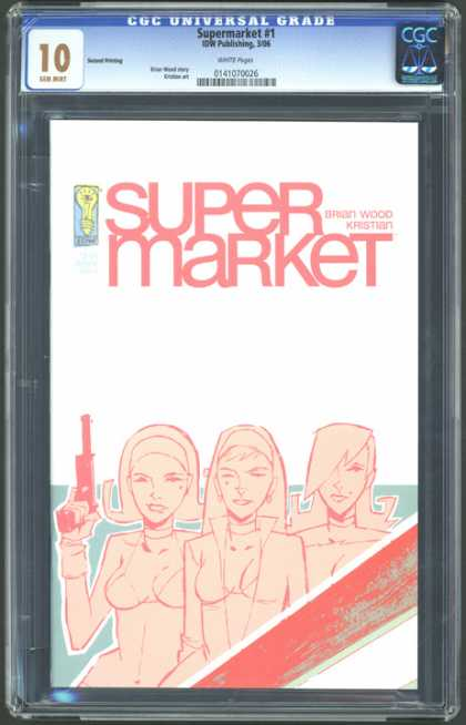 CGC Graded Comics - Supermarket #1 (CGC) - Super Market - Gun - Kristian - Wood
