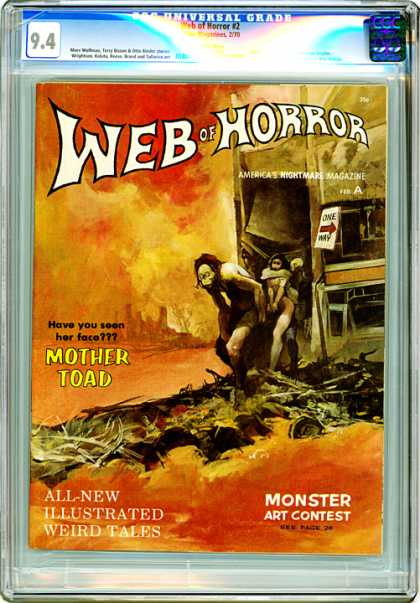 CGC Graded Comics - Web of Horror #2 (CGC) - Mother Toad - Troglodyte - Apocolypse - Ugly Face - Repulsive