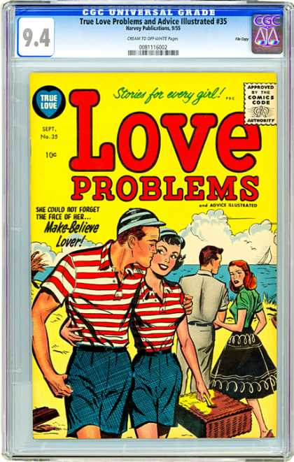 CGC Graded Comics - True Love Problems and Advice Illustrated #35 (CGC) - True Love - Approved By The Comics Code - Stories For Every Girl - Woman - Man