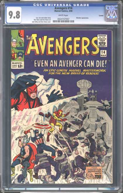 CGC Graded Comics - Avengers #14 (CGC) - Avengers - Even An Avenger Can Die - Thor - Iron Man - Captain America