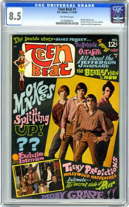 CGC Graded Comics - Teen Beat #1 (CGC) - Teen Beat - Monkees - Outasite - The Jefferson Airplane - The Beatles