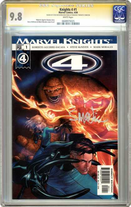CGC Graded Comics - Knights 4 #1 (CGC) - Cgc - Marvel Comics - Marvel - Marvel Knights - Fantastic Four
