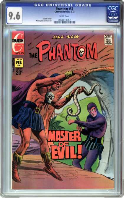 CGC Graded Comics - Phantom #54 (CGC) - Cgc - Cgc Comics - The Phantom - Master Of Evil - Charlton Comics