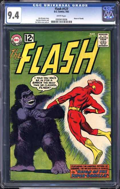 CGC Graded Comics - Flash #127 (CGC) - Monkey - Red Custom - Hairy - The Flash - Light