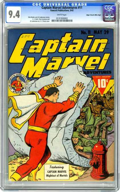 CGC Graded Comics - Captain Marvel Adventures #11 (CGC)