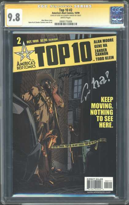 CGC Graded Comics - Top 10 #2 (CGC) - Man - Building - Window - Hat - Spoke