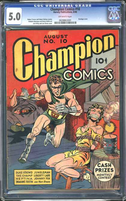 CGC Graded Comics - Champion Comics #10 (CGC) - No 10 - August - 10 Cent - Harvey Publication - Jungleman