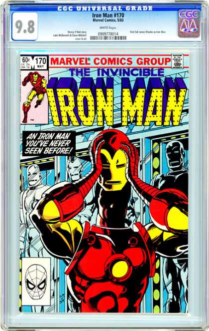 CGC Graded Comics - Iron Man #170 (CGC) - Iron Man - Invincible - Marvel Comics Group - Comics Code - Superhero