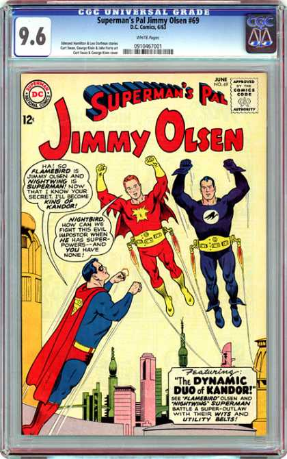 CGC Graded Comics - Superman's Pal Jimmy Olsen #69 (CGC) - Superman - Jimmy Olsoen - Dc Comics - Issue 69 - The Dynamic Duo Of Kandor