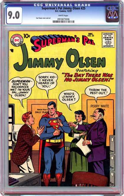 CGC Graded Comics - Superman's Pal Jimmy Olsen #25 (CGC)