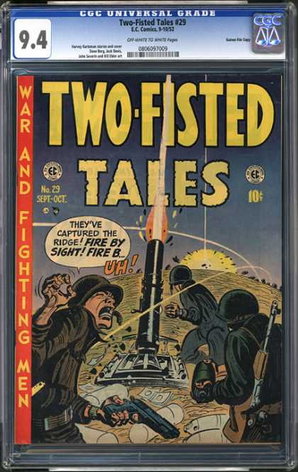 CGC Graded Comics - Two-Fisted Tales #29 (CGC) - Two Fisted Tales - War - Fighting Men - Guns - Rockets