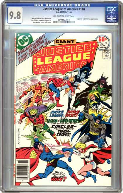CGC Graded Comics - Justice League of America #148 (CGC) - Justice League Of America - Dc - Costume - Batman - Battle