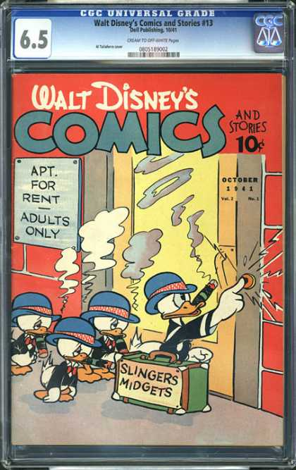 CGC Graded Comics - Walt Disney's Comics and Stories #13 (CGC) - Walt Disney - Ducks - Door Bell - Smoke - Case