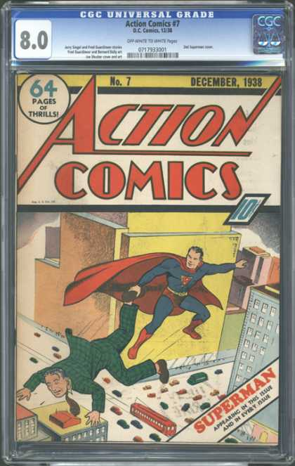 CGC Graded Comics - Action Comics #7 (CGC)