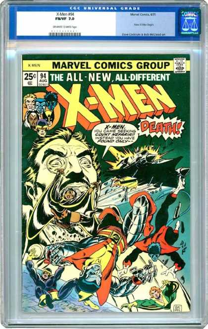 CGC Graded Comics - X-Men #94 (CGC) - Death - Falling - Count Nefaria - Storm - Nightcrawler
