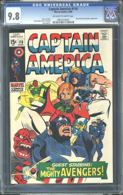 CGC Graded Comics - Captain America #116 (CGC)