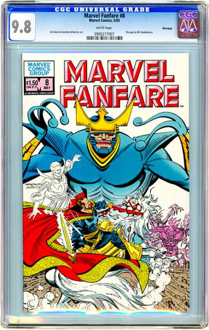 CGC Graded Comics - Marvel Fanfare #8 (CGC) - Fanfare - Crown - Ghost - Sword - Horse